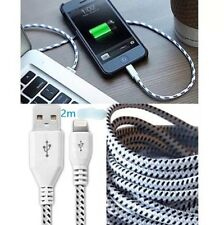 STRONG BRAIDED LIGHTNING 2m Sync Data Cable USB Charger for iPhone 7 6 5 iPad 4
