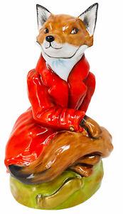 PORCELAIN FOX RED COAT FIGURINE L.E., ROYALE STRATFORD, STAFFORDSHIRE, ENGLAND