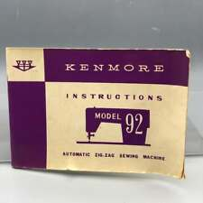 Vintage Kenmore Sewing Machine Instructions Manual Model 92