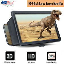 Folding 3D Enlarge Screen Magnifier Amplifier Mobile Phone HD Stand Universal US