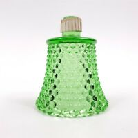"1 Candle Sconce Shade Votive Vintage Green Hurricane Glass Hobnail 3 1/2"" Tall"