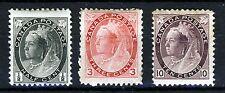 Canadá Reina Victoria 1898-1902 conjunto de parte definitivo SG 150 a SG 164 Como Nuevo