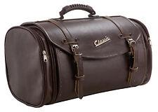 Tasche Koffer Rollcase Echtleder Imitat in Braun Retro-Style 35 Liter Universal