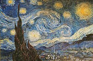 Starry Night By Vincent Van Gogh Poster 24 X 36