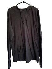Men's Striped Hooded T Shirt Long Sleeve Gray & Black Size XL Nordstrom Rack