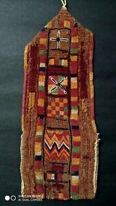 Indian antique ethnic vintage nomadic boho rare kutchi banjara embroidery bag 35