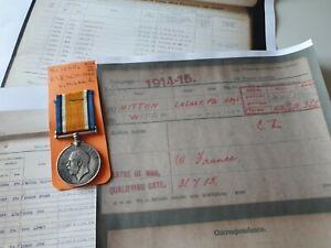WW1 British War Medal to Pte Mitton, 10th Loyal North Lancs Regiment