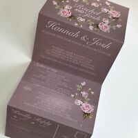 Vintage Blush Rose Pink Day or Evening Personalised Wedding Invitations