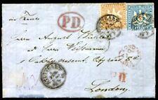 WÜRTTEMBERG 1863 28b+27a schöne MISCHFRANKATUR BEFUND BPP 600€(Z8263b
