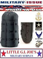 NICE USED! Military Issue Compression Stuff Sack 9 Strap for Sleeping Bags MSS