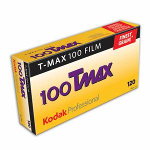 Kodak Professional T-Max TMAX 100 120 Black & White Film-5 Pack EXP DATE 01/2022