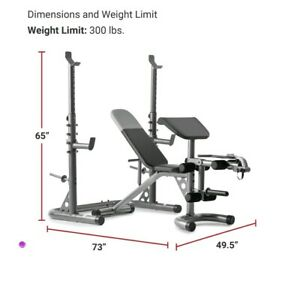 ✅Weider XRS 20 Adjustable Bench With Squat Rack & Preacher Pad. Fast Shipping!