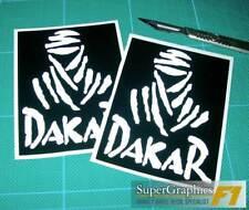 All Manufacturers Decal Paris Dakar Rally Fan Sticker White on black x2