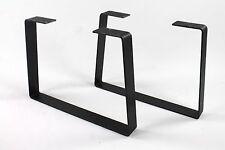 Industrial Metal Coffee Table Legs Trapezoid Heavy Duty Powdercoated Steel Diy