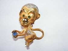 VINTAGE LARGE MONKEY PIN Chimp Pauline Rader     ?