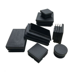 10mm to 100mm Square Plastic Black Blanking End Caps Tube Pipe Inserts Plug Bung