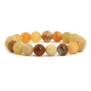"""10mm Fashion round gemstone beads stretchable bracelet 7"""""""