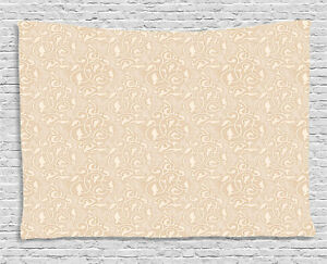 Retro Beige Tapestry Wall Hanging Art Bedroom Dorm 2 Sizes Available