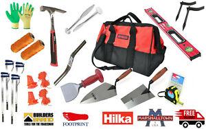 Marshalltown/Footprint/Hilka 14pc SET Bricklayers Tools Set, HEAVY DUTY