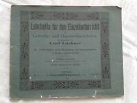 Lehrhefte Einzelunterricht V. Fachzeichnen Maßskizzen Bauhandwerker Leipzig 1904