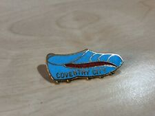 More details for vintage coventry city boot shaped enamel badge by coffer