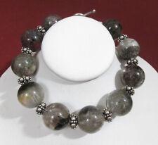 Bali Sterling Silver, Vapor Valley Phantom Quartz, Healing Mala Bracelet Voodoo