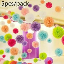 "5 Pcs Tissue Paper Pom Poms Flower Balls Wedding Decoration  8"" 12"" 16''"