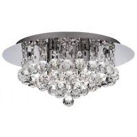 Hanna Stunning 4 Light Crystal Flush Ceiling Light In Polished Chrome 3404-4CC