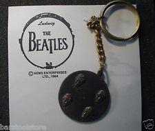 Beatles Brass Record Key Chain John. Paul, George, and Ringo 1964 - 60s Fab 4