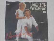 """TOMAS LEDIN & AGNETHA FÄLTSKOG -Never Again- 7"""" 45 Polydor"""