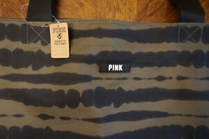 VICTORIA'SSECRET LARGE ARMY GREEN TOTE/GYM TRAVEL BAG PINK COLLECTION NWT