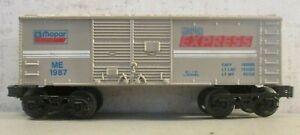 LIONEL 1987 MOPAR EXPRESS BOXCAR COMPLETE EXCELLENT CONDITION 0-27