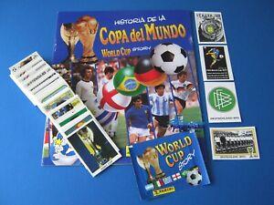 PANINI World Cup Story Komplettset + Leeralbum + Tüte 1-228 Top/Rare