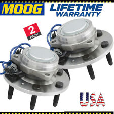 Moog 2 Front Wheel Hub Bearing for 07-14 Chevy Silverado GMC Sierra 1500 2WD