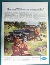 Original 1941 Ford 4 Door Sedan Ad How Many $5000 Cars Can You Name Today?
