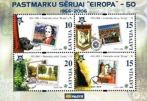"Latvia 2006 (01-2) 50th Anniversary of ""Europa"" Stamps (souvenir sheet)"