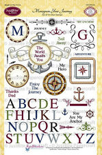 JUSTRITE CLEAR Stamps MONOGRAM YOUR JOURNEY CR-04510 Alphabet Compass Anchor