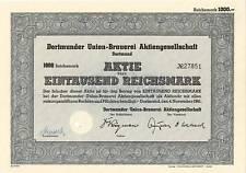 BEER BREWERY DUB DORTMUND  UNION BRAUEREI GERMANY 1941