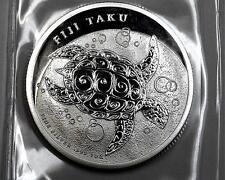 2012 Fiji Large 1OZ,.999 Silver $2 Hawksbill sea turtle