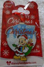 PINS DISNEYLAND PARIS MICKEY MOUSE NOEL 2016 MERRY CHRISTMAS RUBAN ROUGE NEUF