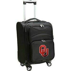 "NCAA 20"" University of Oklahoma  Carry On Spinner Luggage - Black - GallyHo"