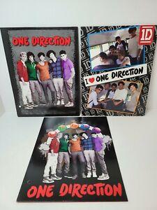 Lot Of 3 One Direction 1D 2 Pocket Binder Folders Portfolio School Harry Styles