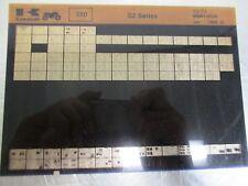 Kawasaki S2 350 Parts Microfiche 1972-73 99961-0034