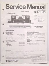 Technics Original Service Manual SH-EH60 Sound Processor