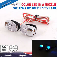 1 Set Chrome WindScreen Washer Super Bright Blue Color LED Light in a Nozzle
