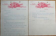 Printer/Lithographer/Engraver TWO 1903 Letterheads - Lincoln, NY to Pony, MT