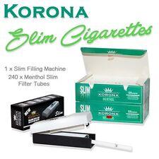 Empty Cigarette 2 BOX KORONA SLIM MENTHOL  2x120+1 slim filling machine
