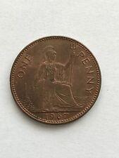 British 1967 Elizabeth II One Penny Coin