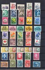 Nederland VERZENDKOSTEN 2 EURO 9 gestempelde series 1e helft jaren 50