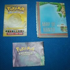 Lot of Pokemon Manual, Poster and Map